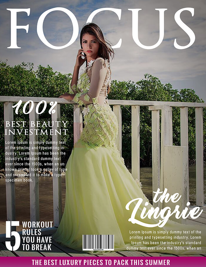 The Lingrie Magazine Cover