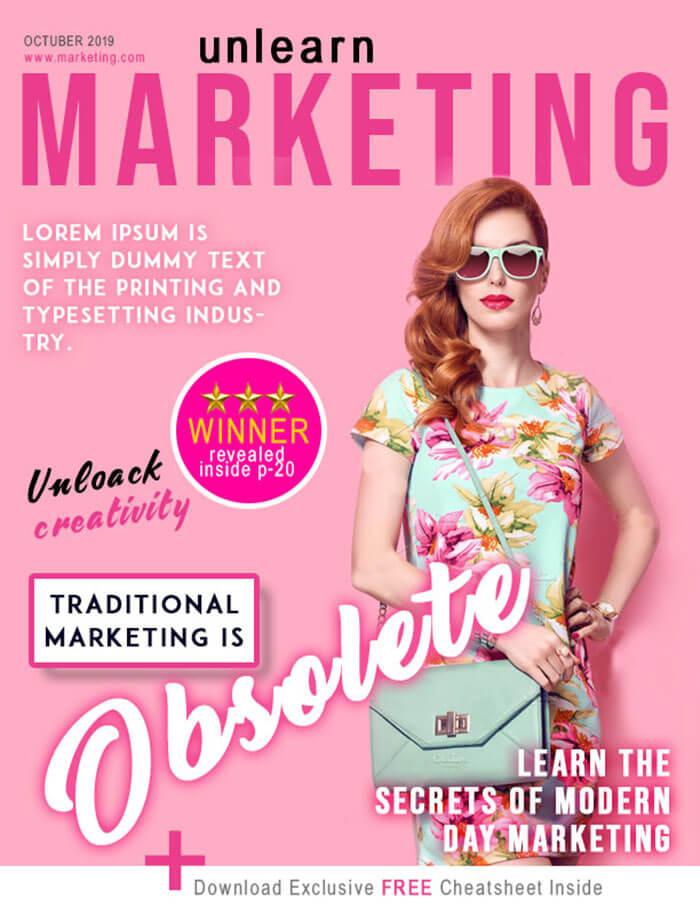Unlearn Marketing Magazine Cover