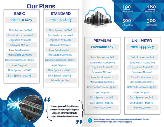 Rent Hosting Brochure