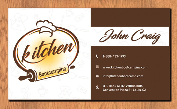 Kitchen Boot Camp Card