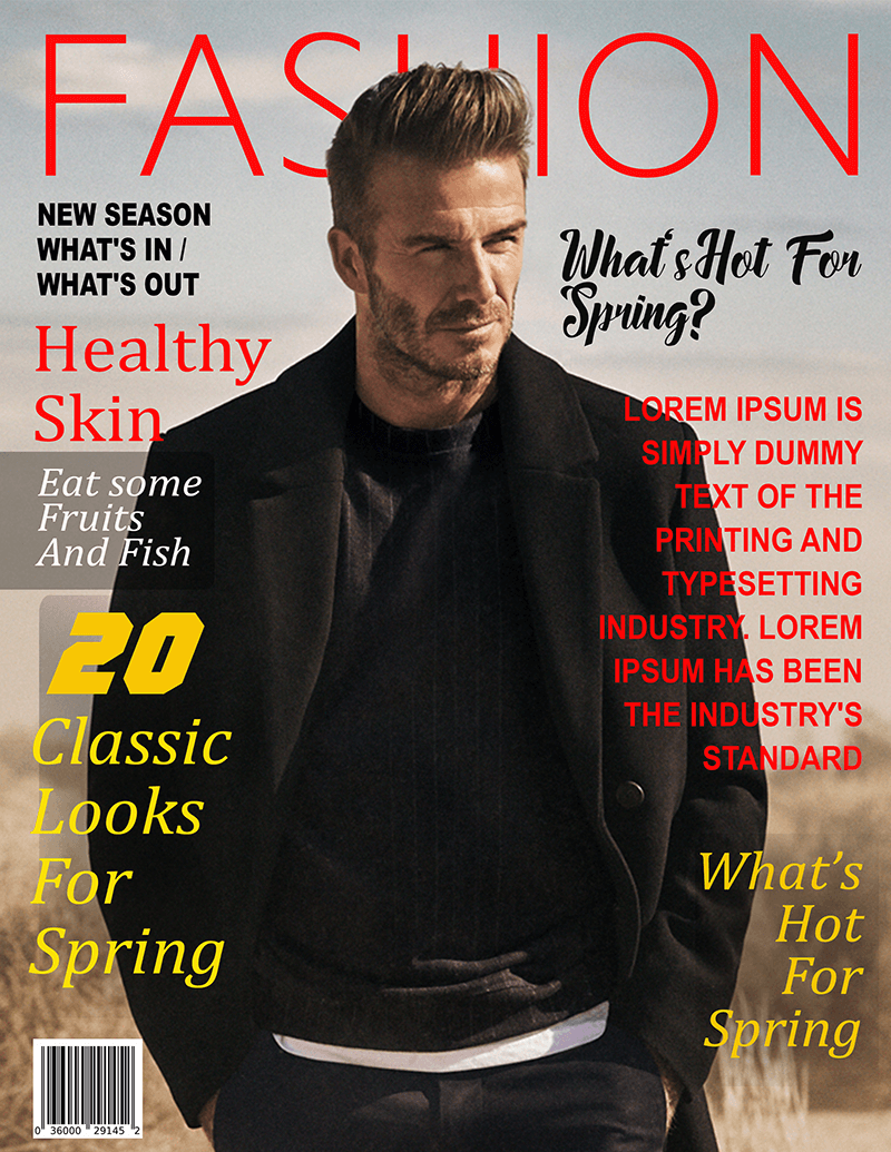 Spring Fashion Magazine Cover