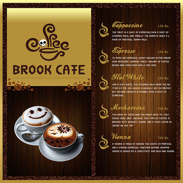 Brook Cafe Menu