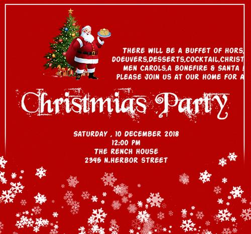 Christmas Invitation Card