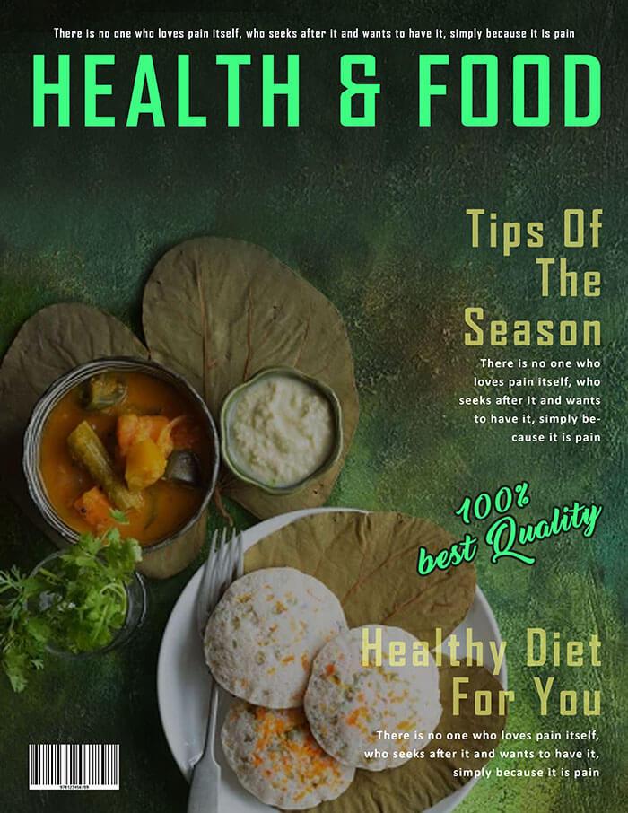 Health & Food Magazine Cover