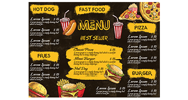 Fast Food Menu Card