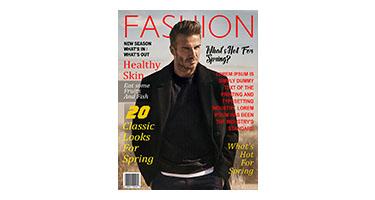 Spring Fashion Magazine Cover