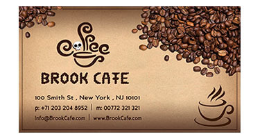 Brook Cafe Business Card